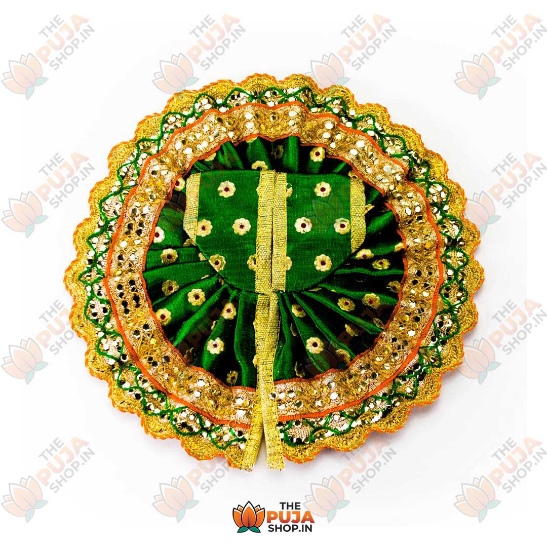 Laddu Gopal Poshak/Dress Green color